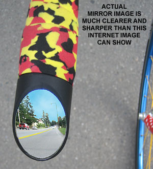 The Italian Road Bike Mirror - Actual Rider View on the bicycle